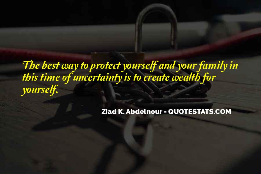 Family Wealth Quotes #1578395