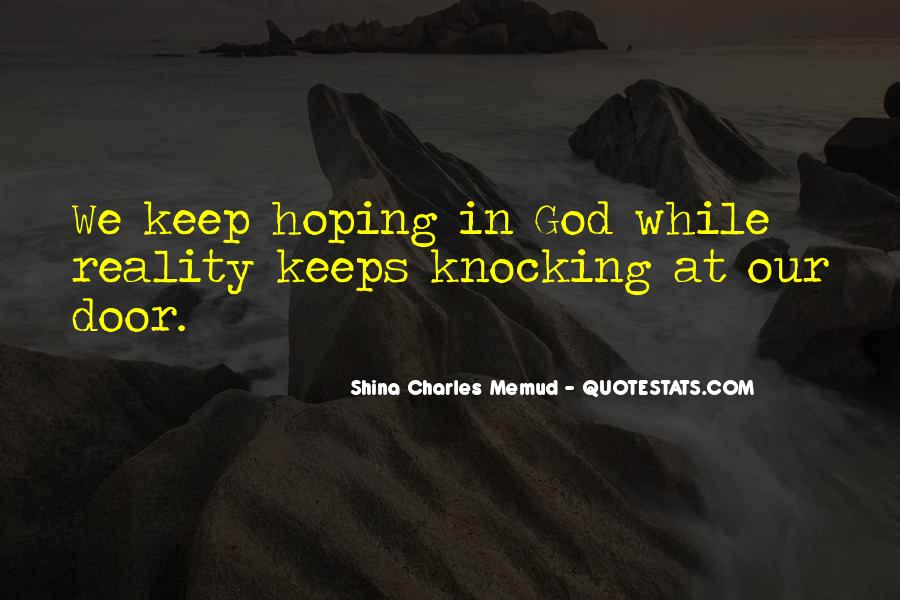 Quotes About Hoping In God #1732863