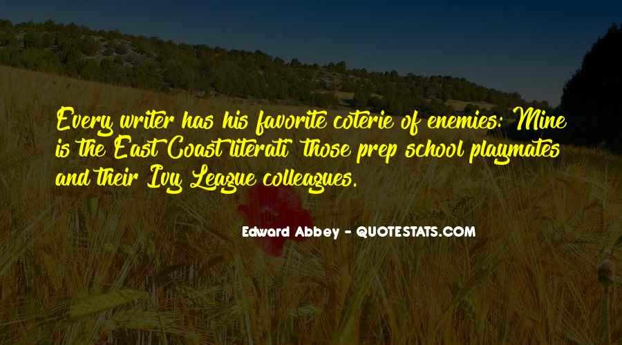 Quotes About The Ivy League #576888