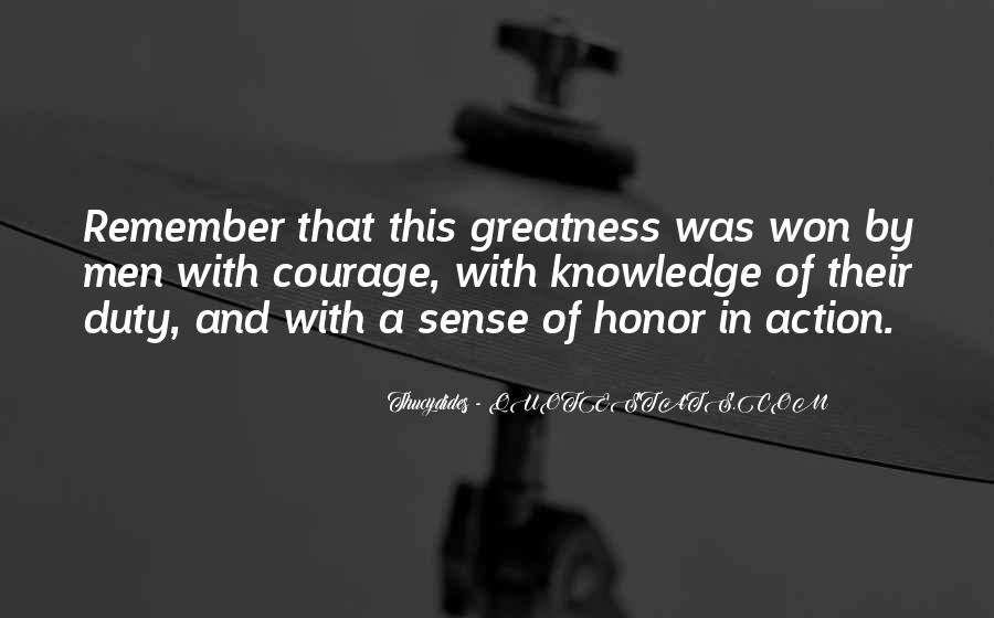 Quotes About Honor And Duty #1150996