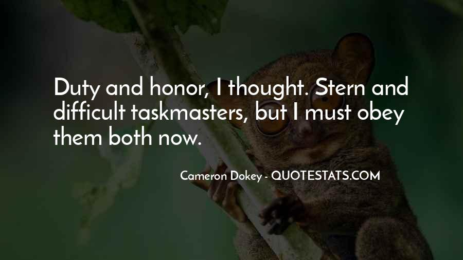 Quotes About Honor And Duty #1692322