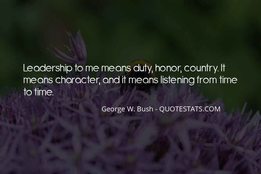 Quotes About Honor And Duty #1777568