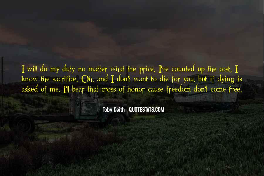 Quotes About Honor And Duty #488393