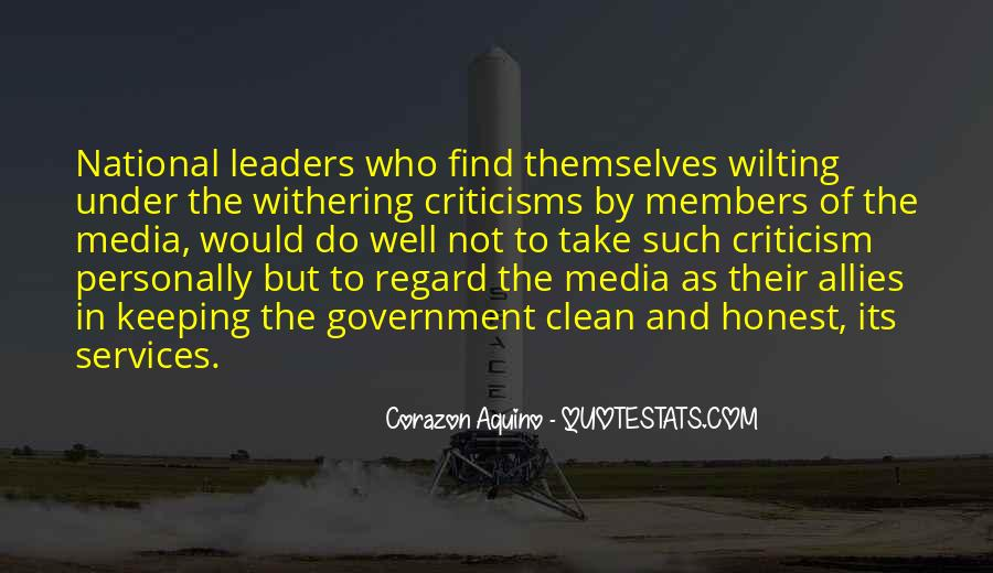 Quotes About Honest Leaders #1213038