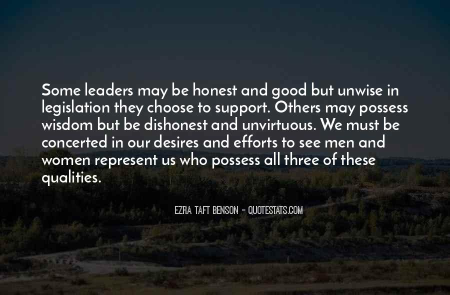 Quotes About Honest Leaders #167451