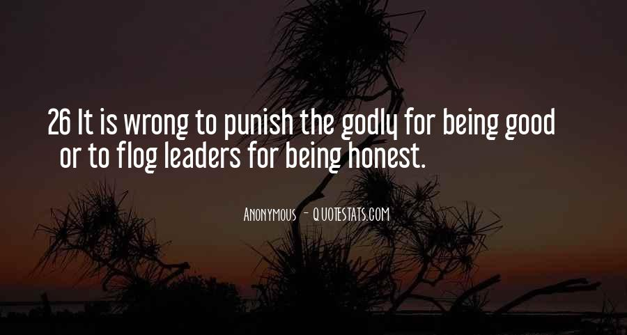 Quotes About Honest Leaders #459669