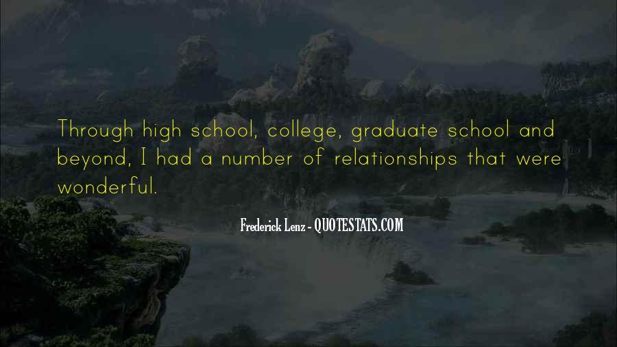 Quotes About High School Relationships #845126