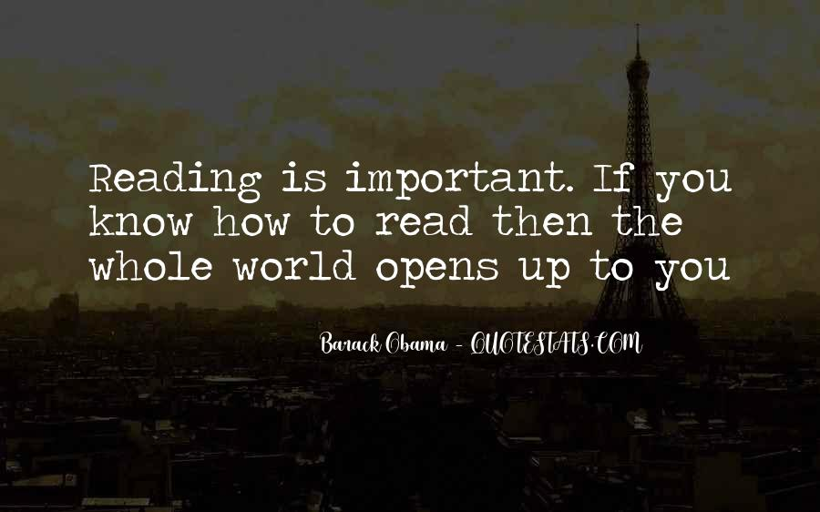 Quotes About The Importance Of Reading #104349