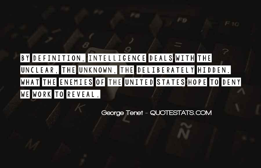 Quotes About Hidden Intelligence #1146993