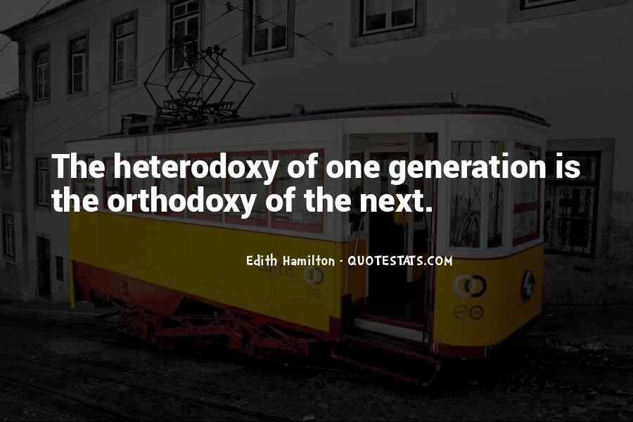 Quotes About Heterodoxy #709541