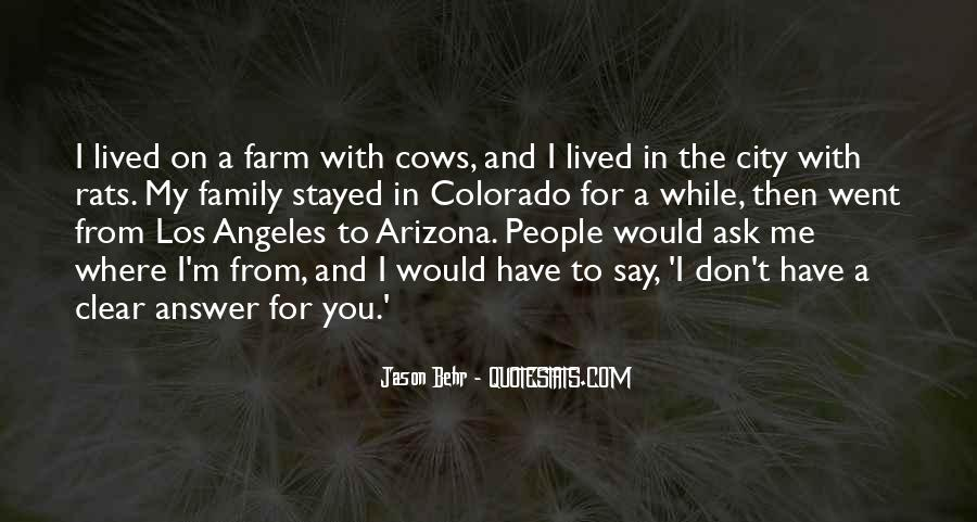 Farm And Family Quotes #1418370