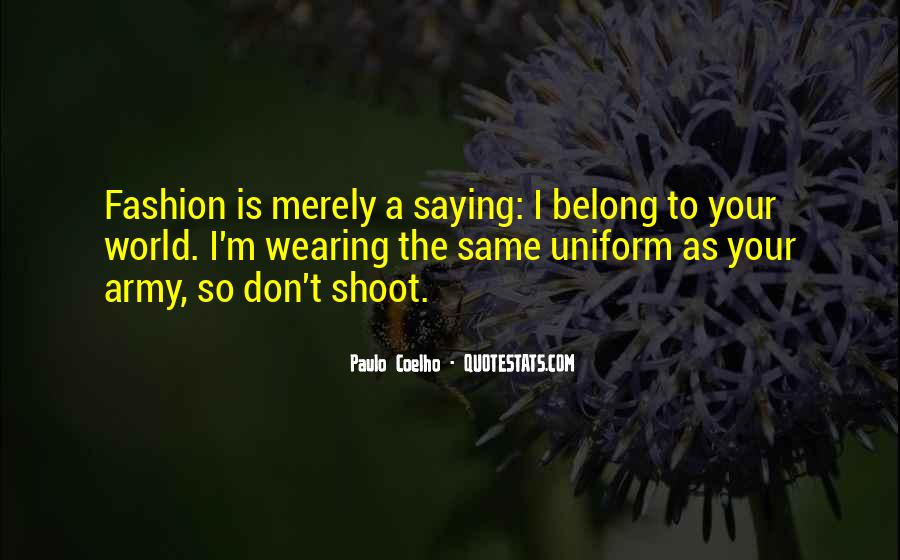 Fashion Shoot Quotes #209428