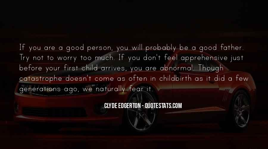 Father's First Child Quotes #56888