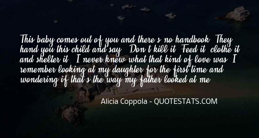Father's First Child Quotes #980970