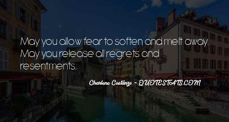 Fear And Regret Quotes #128980