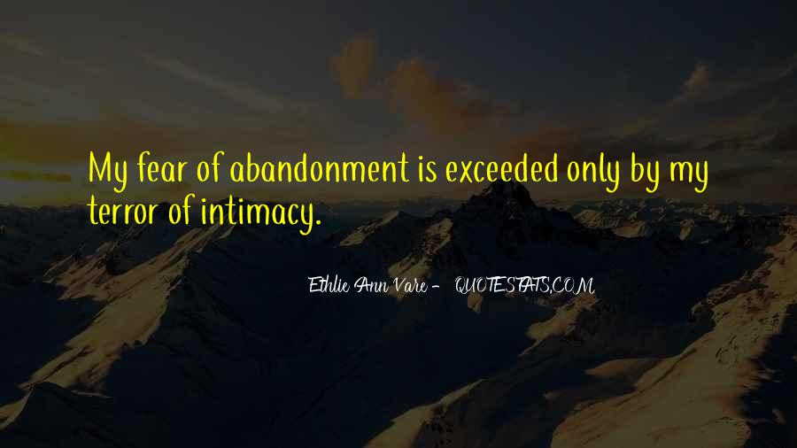 Fear Of Abandonment Quotes #759550