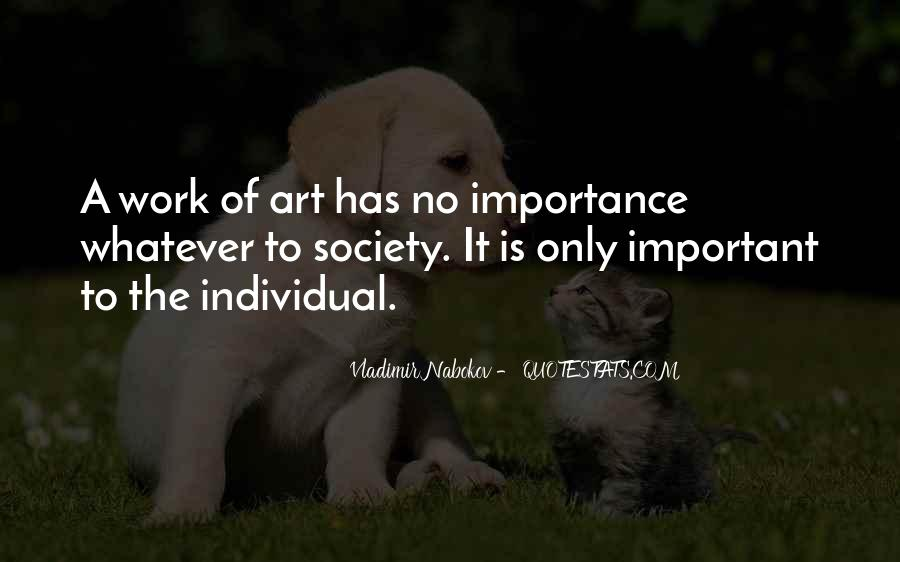 Quotes About The Importance Of Art #593616