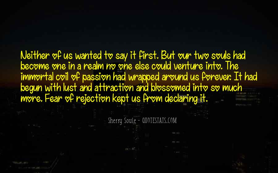 Fear Of Rejection Love Quotes #35388