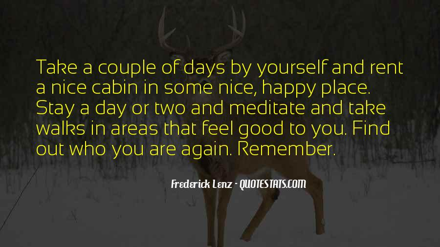 Feel Good Nature Quotes #309442