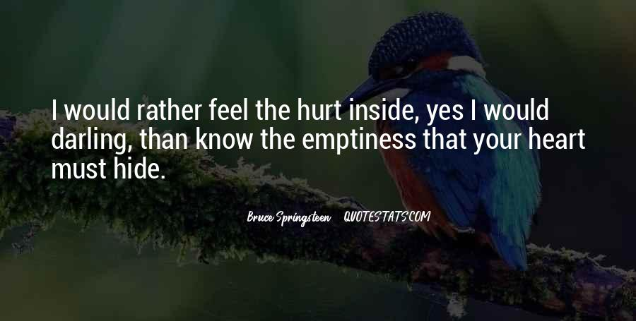 Feel Hurt Inside Quotes #1124925