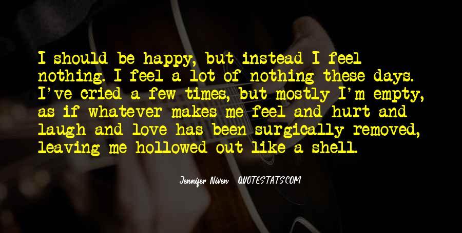 Feel My Love Sad Quotes #521494