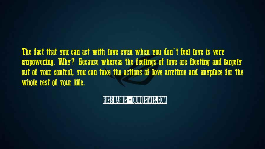Feel Out Of Love Quotes #285014