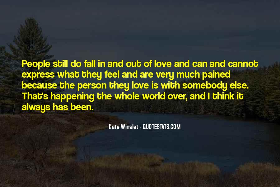Feel Out Of Love Quotes #46044