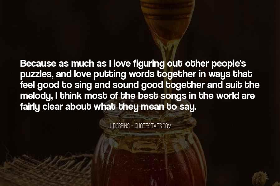 Feel Out Of Love Quotes #734401