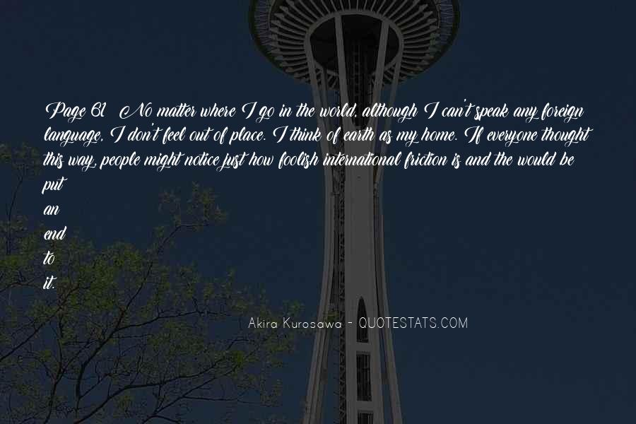 Feel Out Of Place Quotes #1462464
