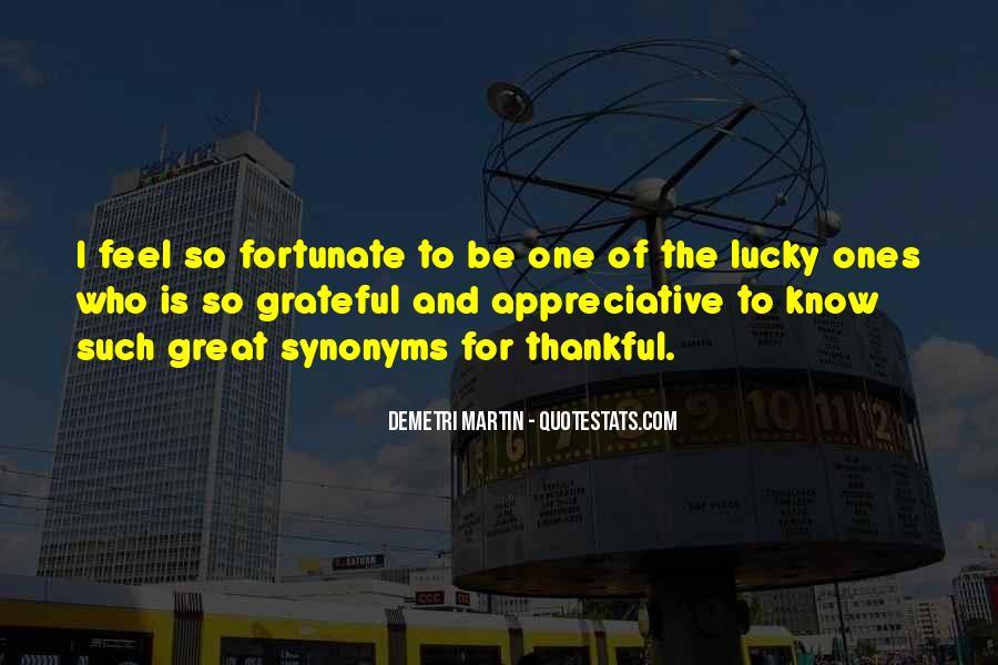 Feel So Lucky Quotes #1193657