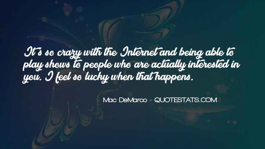 Feel So Lucky Quotes #1214314