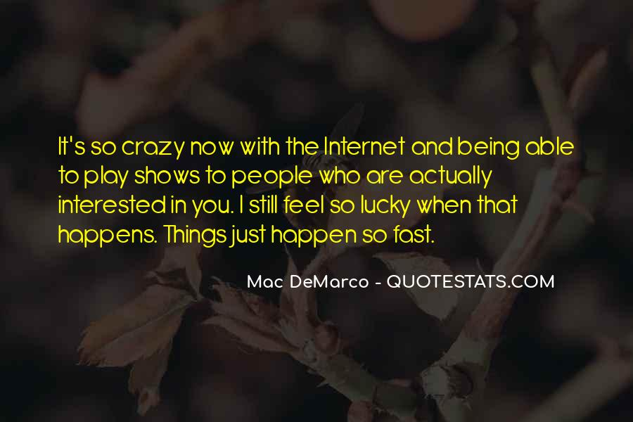Feel So Lucky Quotes #342857