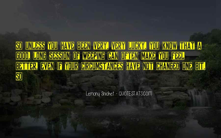 Feel So Lucky Quotes #409261