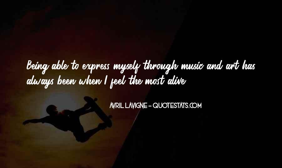 Feel The Music Quotes #11404