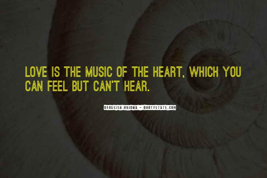 Feel The Music Quotes #132147