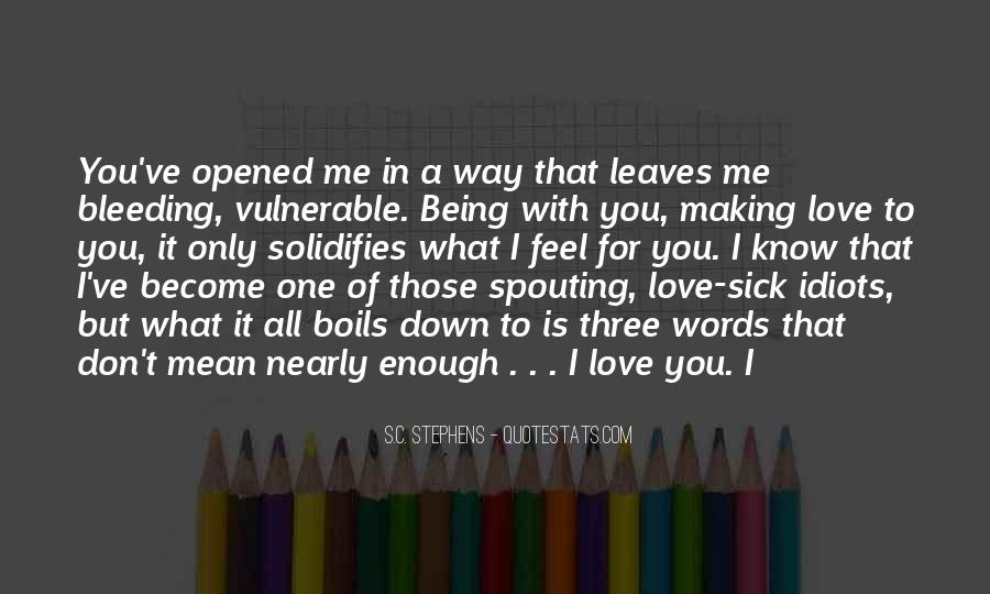 Feel With Love Quotes #93061