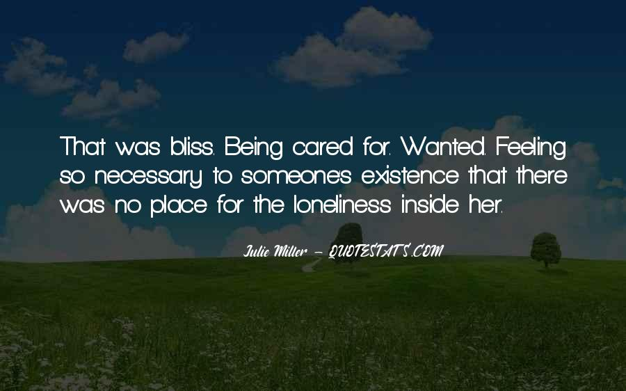 Feeling Cared Quotes #173457