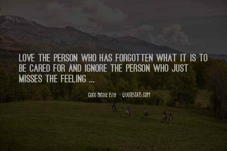 Feeling Cared Quotes #469581