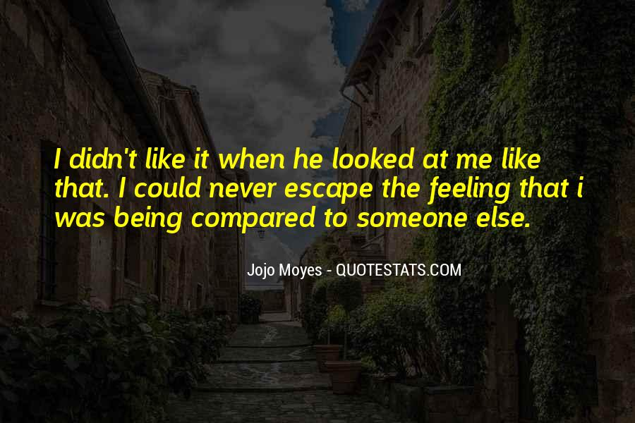 Feeling Compared Quotes #691556