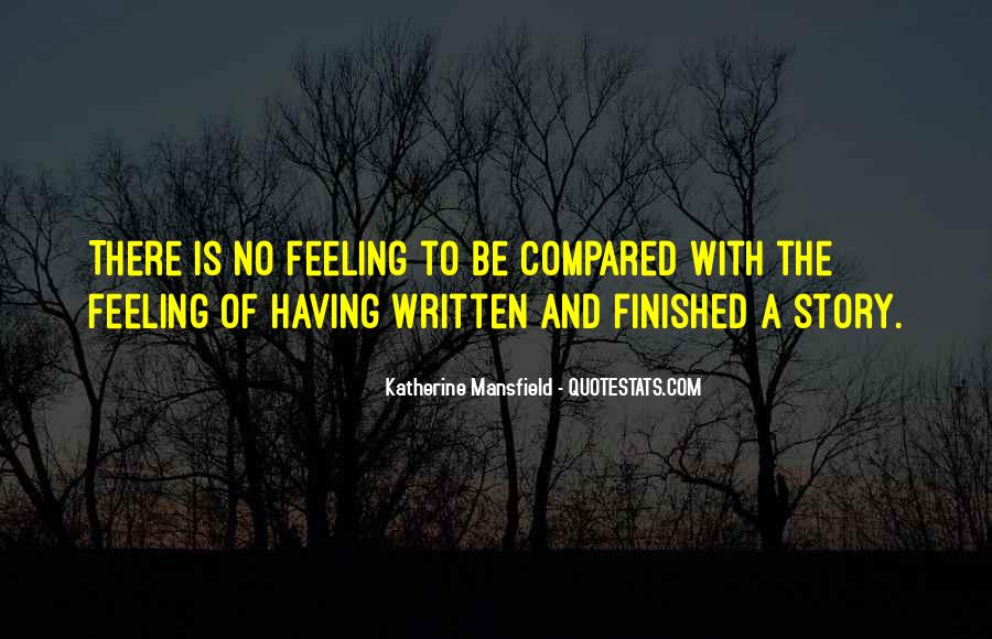 Feeling Compared Quotes #73306