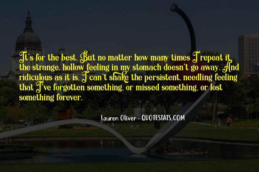 Feeling Forgotten Quotes #1275269