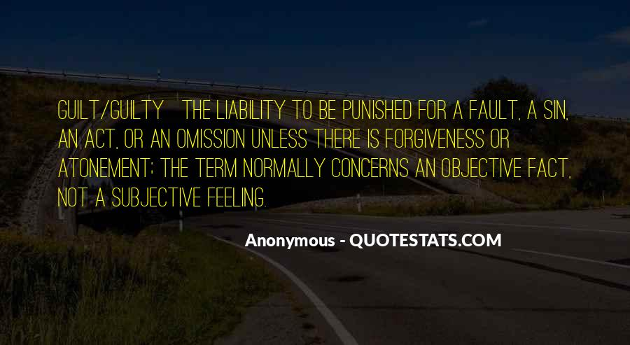 Feeling Guilty And Sorry Quotes #309233
