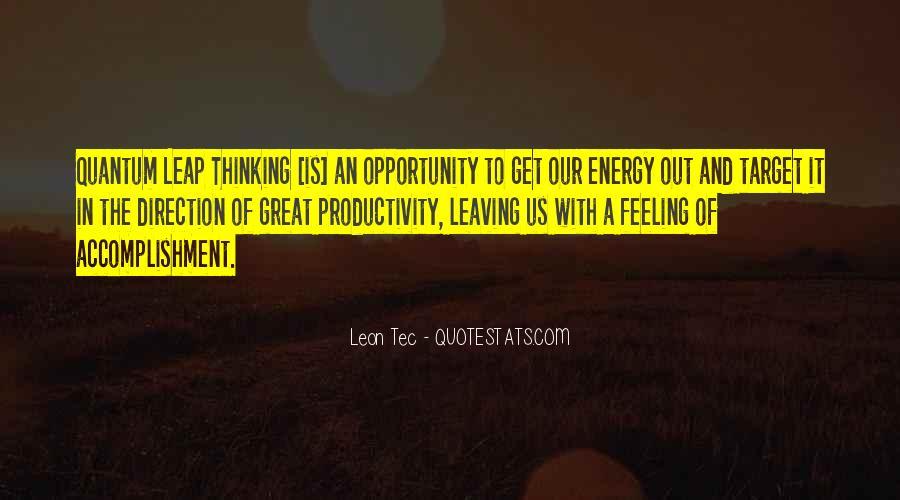 Feeling Of Accomplishment Quotes #1512219