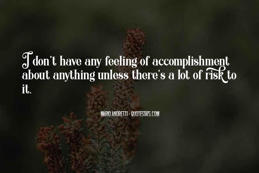 Feeling Of Accomplishment Quotes #1761292