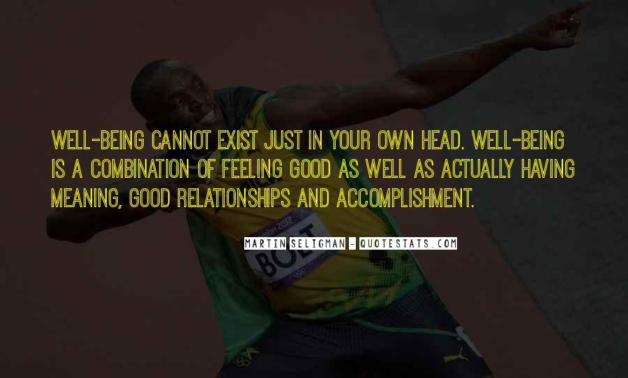 Feeling Of Accomplishment Quotes #897579