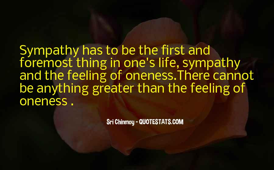 Feeling Of Oneness Quotes #1531043