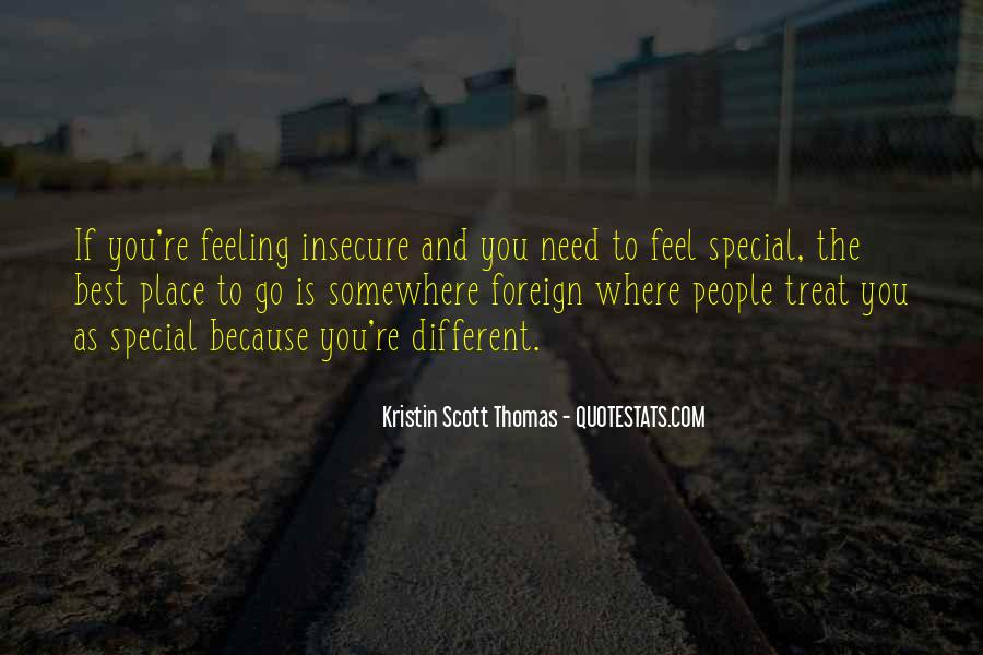 Feeling So Special Quotes #165495