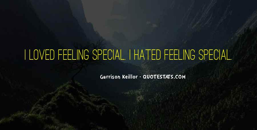 Feeling So Special Quotes #212603
