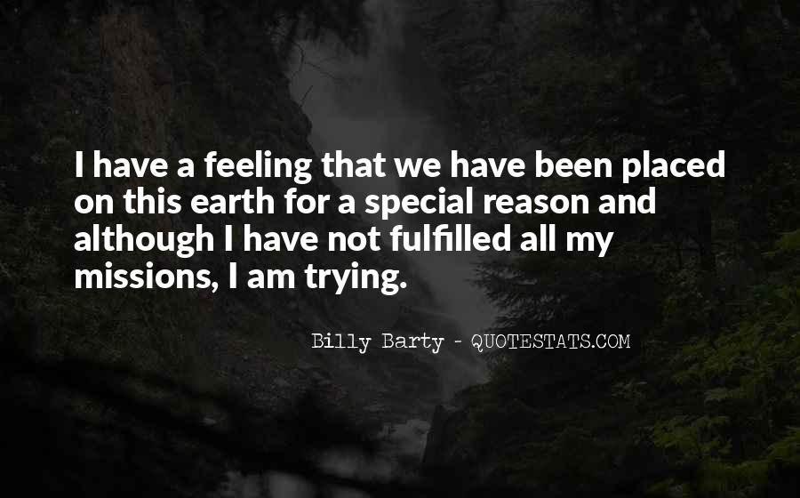 Feeling So Special Quotes #780242