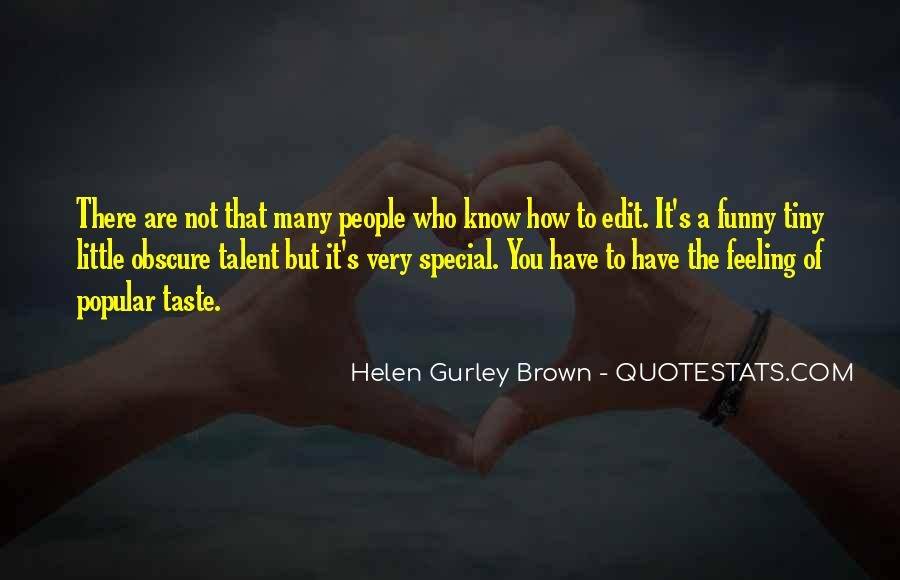 Feeling So Special Quotes #783135